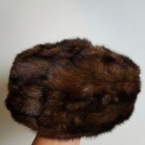 Vintage Accessories - Vintage Faux Fur Pillbox Hat UPCYCLE PROJECT